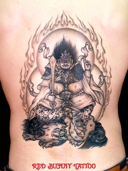 羅刹天  (刺青 和彫り 画像 デザイン)