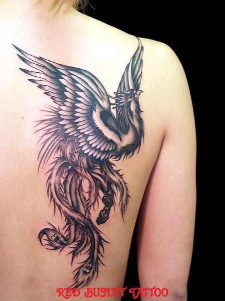 鳳凰    (刺青 和彫り 画像 デザイン)
