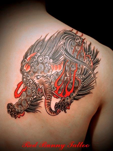 獏     (タトゥー tattoo 画像 デザイン)