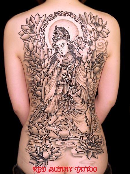 如意輪観音 女性   (刺青 和彫り  画像 デザイン)