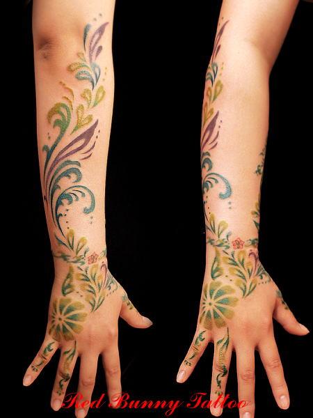 花  トライバル  (tattoo タトゥー 画像 デザイン)