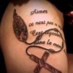 クロス 十字架 文字 letter   (タトゥー tattoo 画像 デザイン)