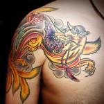 九尾の狐   (刺青 タトゥー tattoo 画像 デザイン)