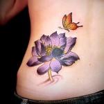 蓮 花 lotus  (刺青 タトゥー tattoo 画像 デザイン)