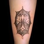 オリエンタル 鳥 (ガールズ  タトゥー tattoo 画像 デザイン)