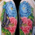 牡丹 蝶   (刺青  タトゥー tattoo 画像 デザイン)