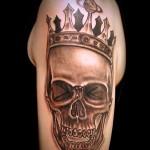 スカル 王冠  (刺青 タトゥー tattoo 画像 デザイン)