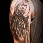 死神 スカル   (刺青 タトゥー tattoo 画像 デザイン)