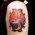 月 太陽     (刺青  タトゥー tattoo 画像 デザイン)