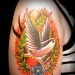 ツバメ swallow  (刺青 タトゥー tattoo 画像 デザイン)