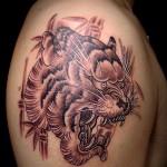 トラ tiger    (刺青  タトゥー tattoo 画像 デザイン)