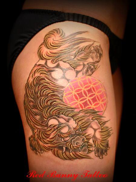 唐獅子,刺青,タトゥー,tattoo,画像,デザイン,女性