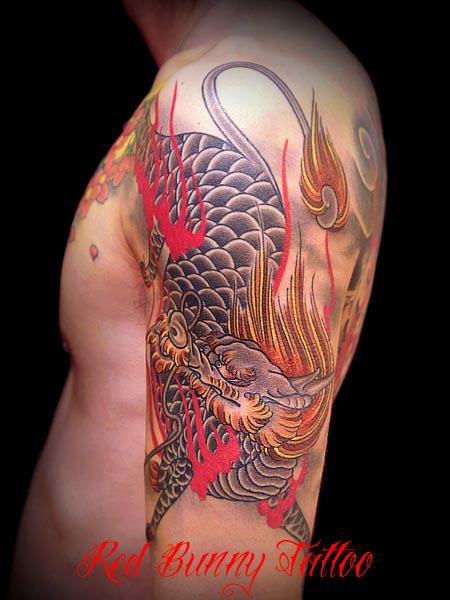 麒麟,刺青,タトゥー,tattoo,画像,デザイン