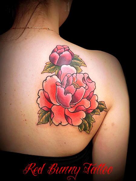 牡丹,女性,刺青,タトゥー,tattoo,画像,デザイン