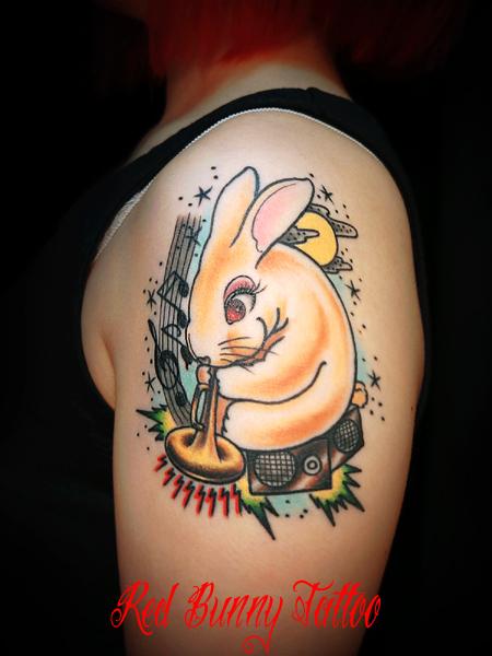 ウサギ,タトゥー,tattoo,画像,デザイン,rabbit