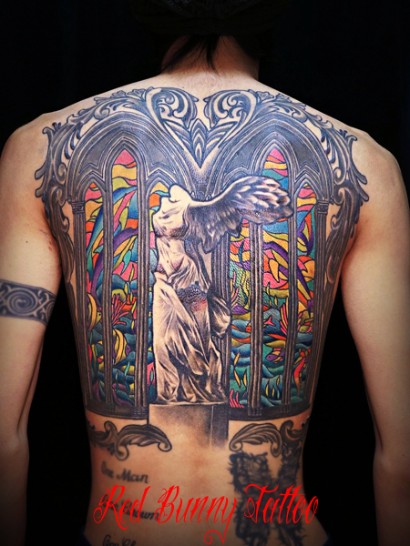 サモトラケのニケ タトゥー 画像・デザイン tattoo Winged Victory