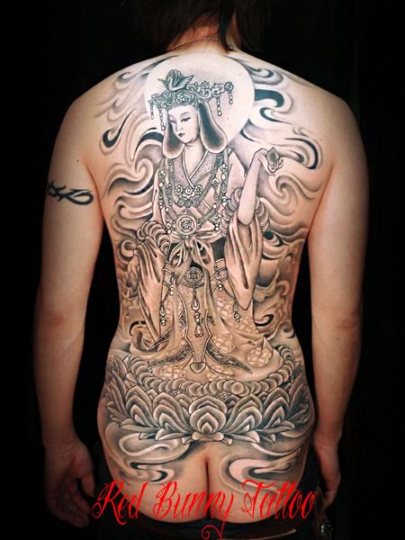 吉祥天 刺青 和彫り 仏画 (デザイン 画像)