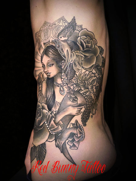 タトゥー 女性 tattoo girl