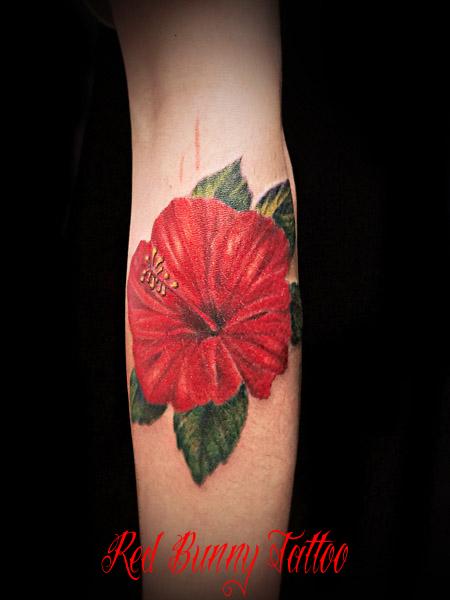 ハイビスカス タトゥー tattoo 花