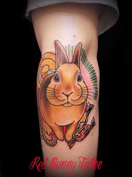 うさぎ タトゥー rabbit tattoo  デザイン 画像