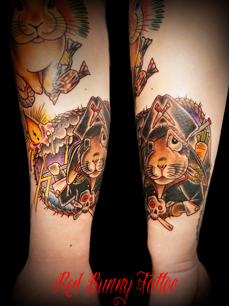 うさぎ rabbit tattoo タトゥー 海賊