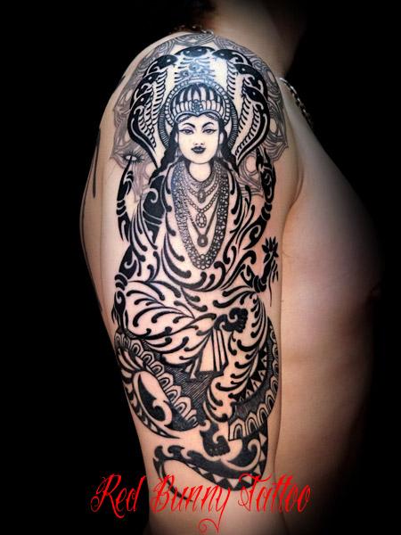 Vishnu tattoo ヴィシュヌ タトゥー デザイン