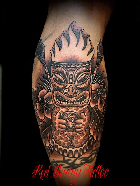 tattoo tiki ティキ タトゥー ハワイ デザイン 東京 redbunnytattoo