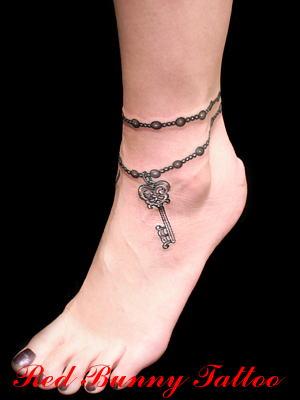 アンクレット タトゥー girl tattoo デザイン ワンポイント