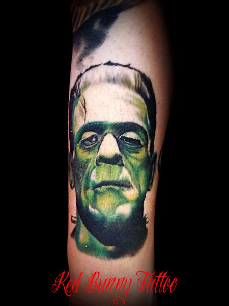 Frankenstein tattoo フランケンシュタイン タトゥー redbunnytattoo 東京 吉祥寺