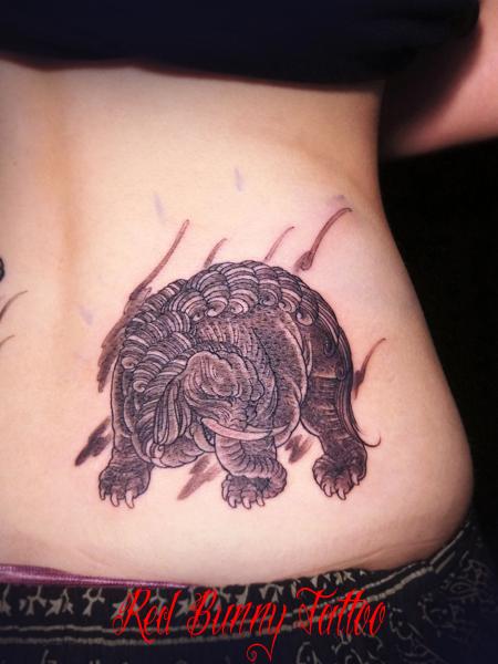 獏  タトゥー 刺青 tattoo (デザイン・画像)