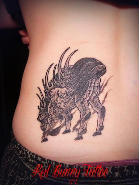 白澤 タトゥー 刺青 tattoo (デザイン・画像)