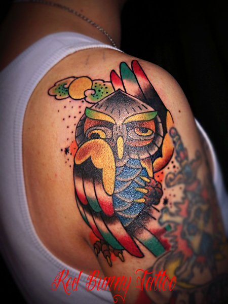 ふくろう タトゥー owl tattoo デザイン