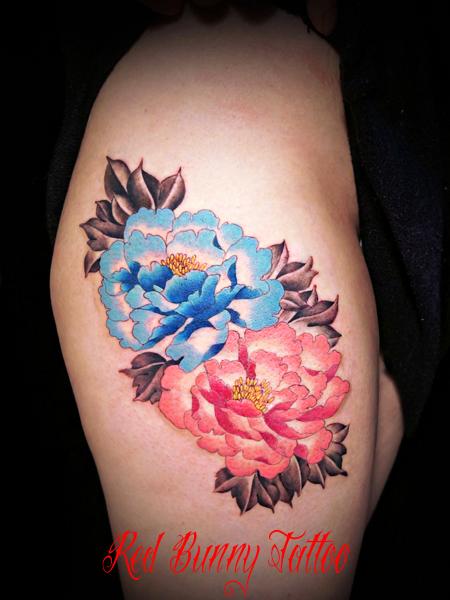 牡丹 タトゥー 女性 刺青 tattoo 花