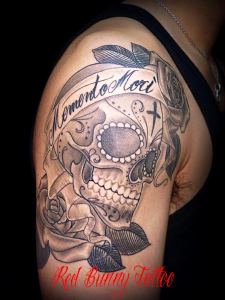 シュガースカル・メキシカンスカル タトゥー skull tattoo
