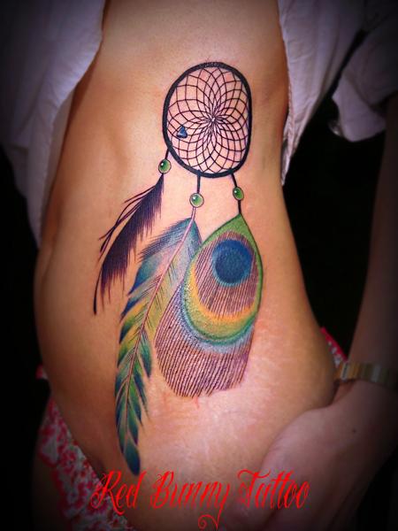 ドリームキャッチャー タトゥー  tattoo girl 女性