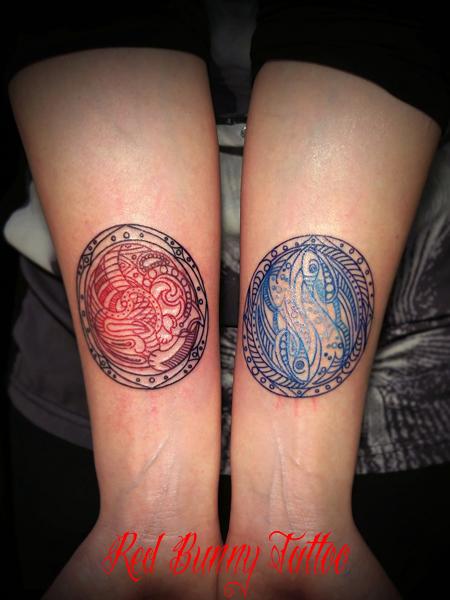 オリエンタル タトゥー girl tattoo ワンポイントタトゥー