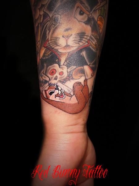 disney tattoo チップとデール  ディズニー タトゥー