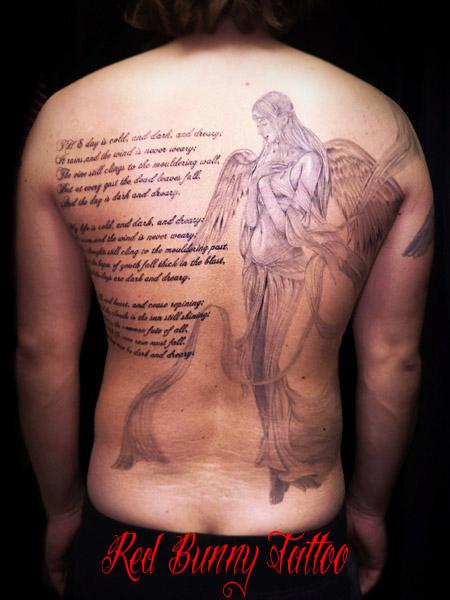 天使,女神,タトゥー,デザイン,画像