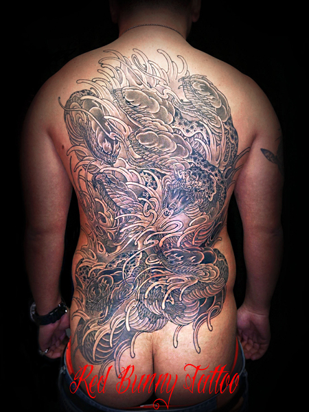 八岐大蛇・タトゥー、刺青のデザイン・画像