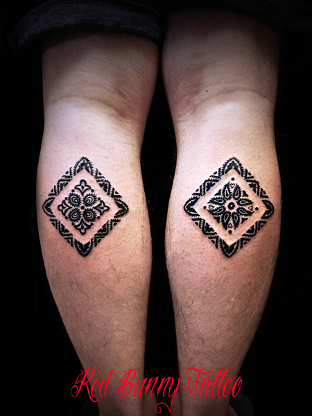 paisley tattoo ペイズリー柄のタトゥーデザイン