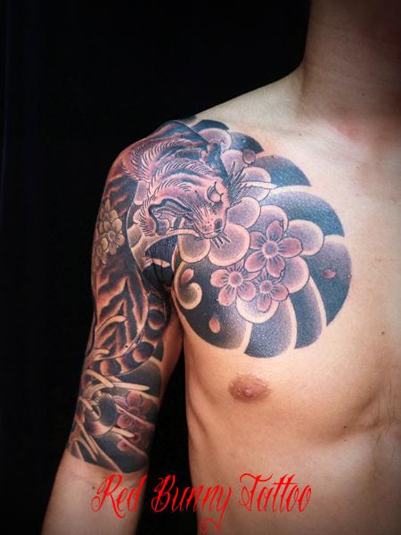 虎と桜 刺青・和彫りのデザイン紹介