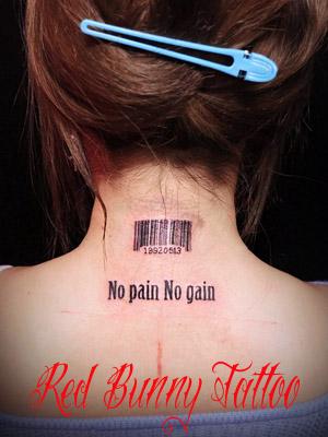 文字 タトゥーデザイン letter tattoo 首・女性のタトゥー