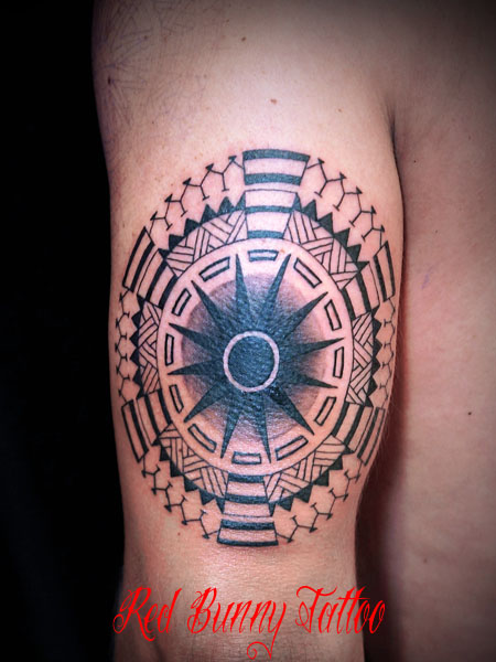 円形トライバル タトゥーデザイン tribal tattoo