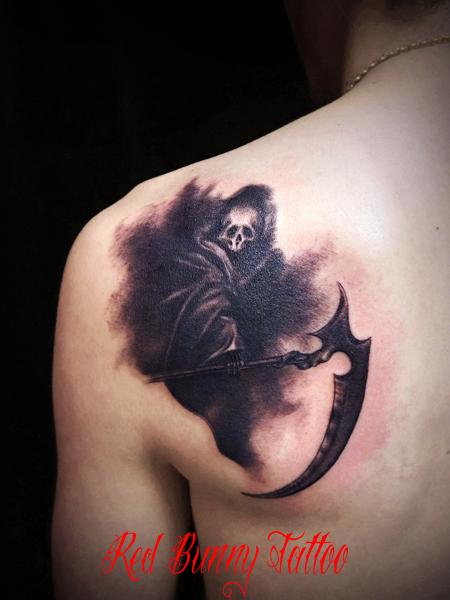 死神 タトゥーデザイン 画像 tattoo death