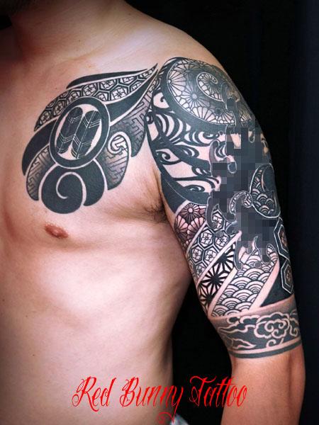 和風トライバル タトゥーデザイン tattoo tribal