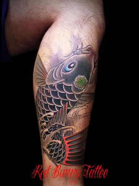 鯉の刺青、タトゥーデザイン・画像