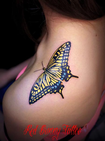 蝶 タトゥーデザイン butterfly tattoo