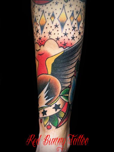 イーグル タトゥーデザイン eagle tattoo アメリカントラディショナル