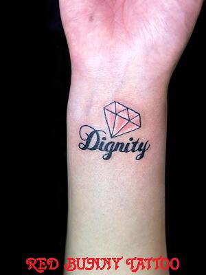 手首 文字 タトゥーデザイン Letter tattoo ワンポイントタトゥー