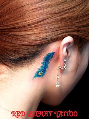 羽 フェザー タトゥーデザイン feather tattoo 羽根